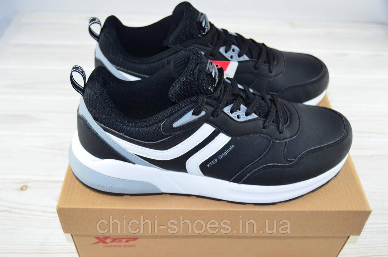 Кроссовки подростковые X-TEP 326139 чёрные ПВХ