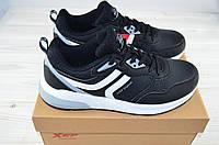 Кроссовки подростковые X-TEP 326139 чёрные ПВХ, фото 1