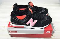 Кроссовки подростковые New Balance 12-14 чёрно-розовые текстиль, фото 1
