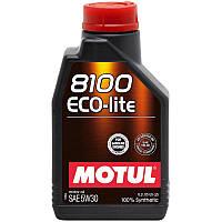Моторное масло Motul 8100 Eco-lite SAE 5W30 1 литр для легковых автомобилей 839511