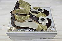 Босоножки женские Mariposa 248-58-42 коричневые кожа, фото 1