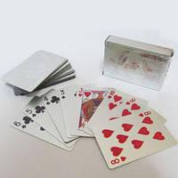 """Карти гральні 54 шт """"J. Otten"""" товст. пластик,срібло """"Silver"""" 0858"""
