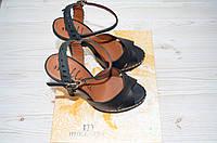 Босоножки женские Mallanee 1855 чёрные кожа каблук, фото 1