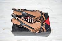 Босоножки женские Beletta 1812 коричневые кожа каблук, фото 1