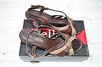 Босоножки женские Beletta 1471 коричневые кожа каблук, фото 1