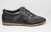 Туфли мужские EGO LINE 14261 чёрные кожа на шнурках