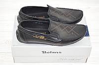 Туфли-мокасины мужские Belvas 327-1 чёрные кожа, фото 1