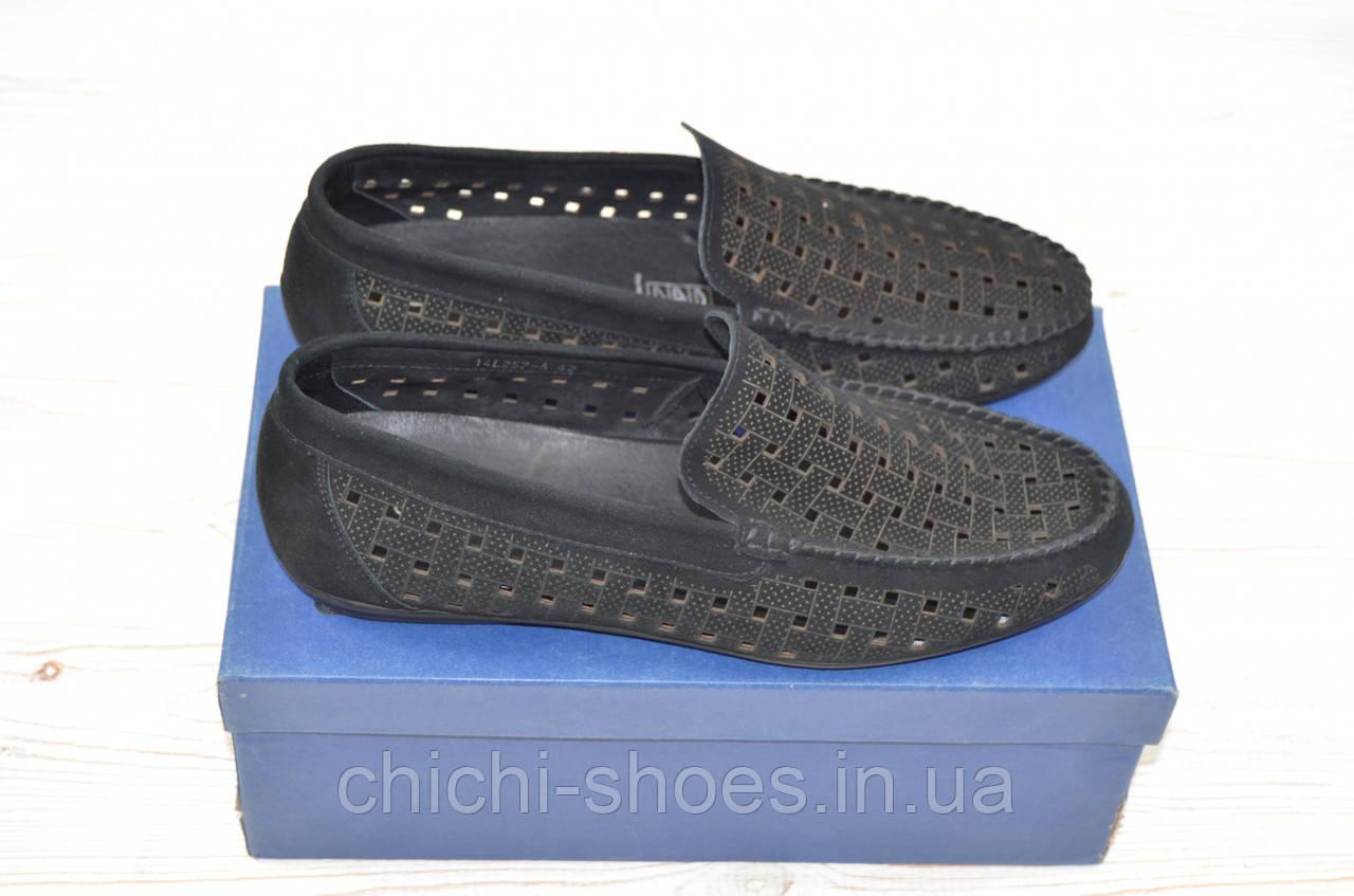 Туфли-мокасины мужские EGO LINE 14257 чёрные замша