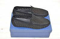 Туфли-мокасины мужские EGO LINE 14257 чёрные замша, фото 1
