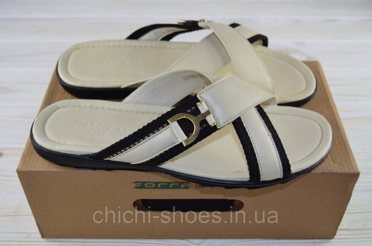 Мужские сандали Forra 11153 белые кожа