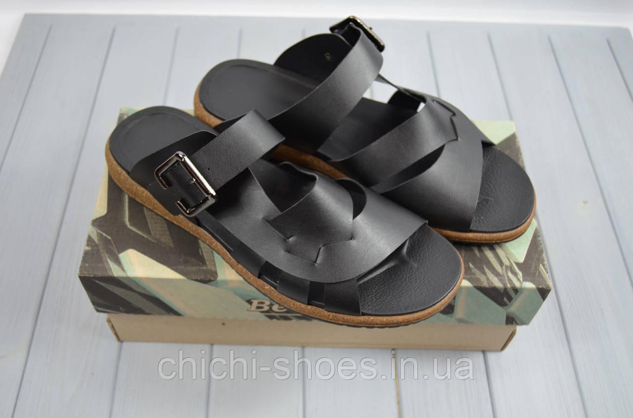 Мужские сандали BV 12-01 чёрные кожа