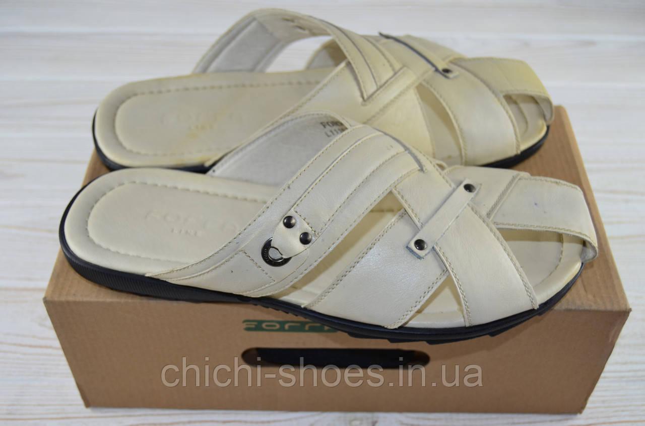 Мужские сандали Forra 11157 белые кожа