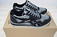 Кроссовки подростковые SAV CROS 50-6 чёрно-серые кожа + текстиль, фото 1