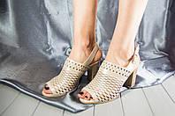 Босоножки женские La Pinta 0436-656-804 бежевый перламутр кожа, фото 1