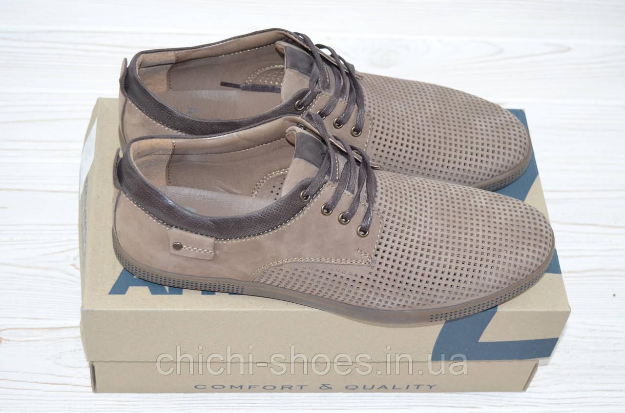 Туфли мужские Affinity 1820-260 коричневые нубук на шнурках