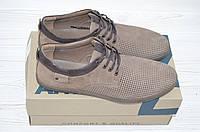Туфли мужские Affinity 1820-260 коричневые нубук на шнурках, фото 1