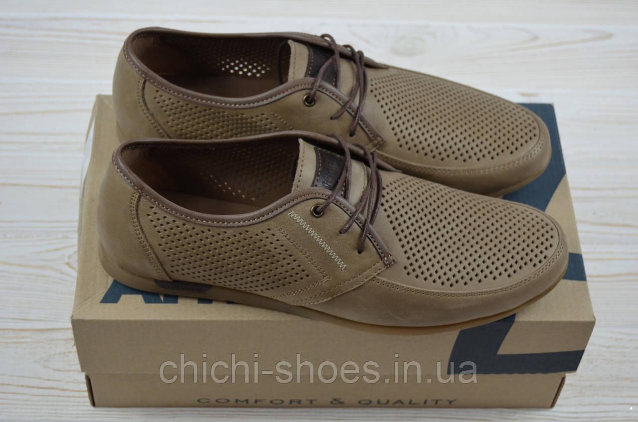 Туфли мужские Affinity  1829-170 коричневые нубук на шнурках