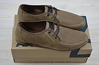 Туфли мужские Affinity  1829-170 коричневые нубук на шнурках, фото 1