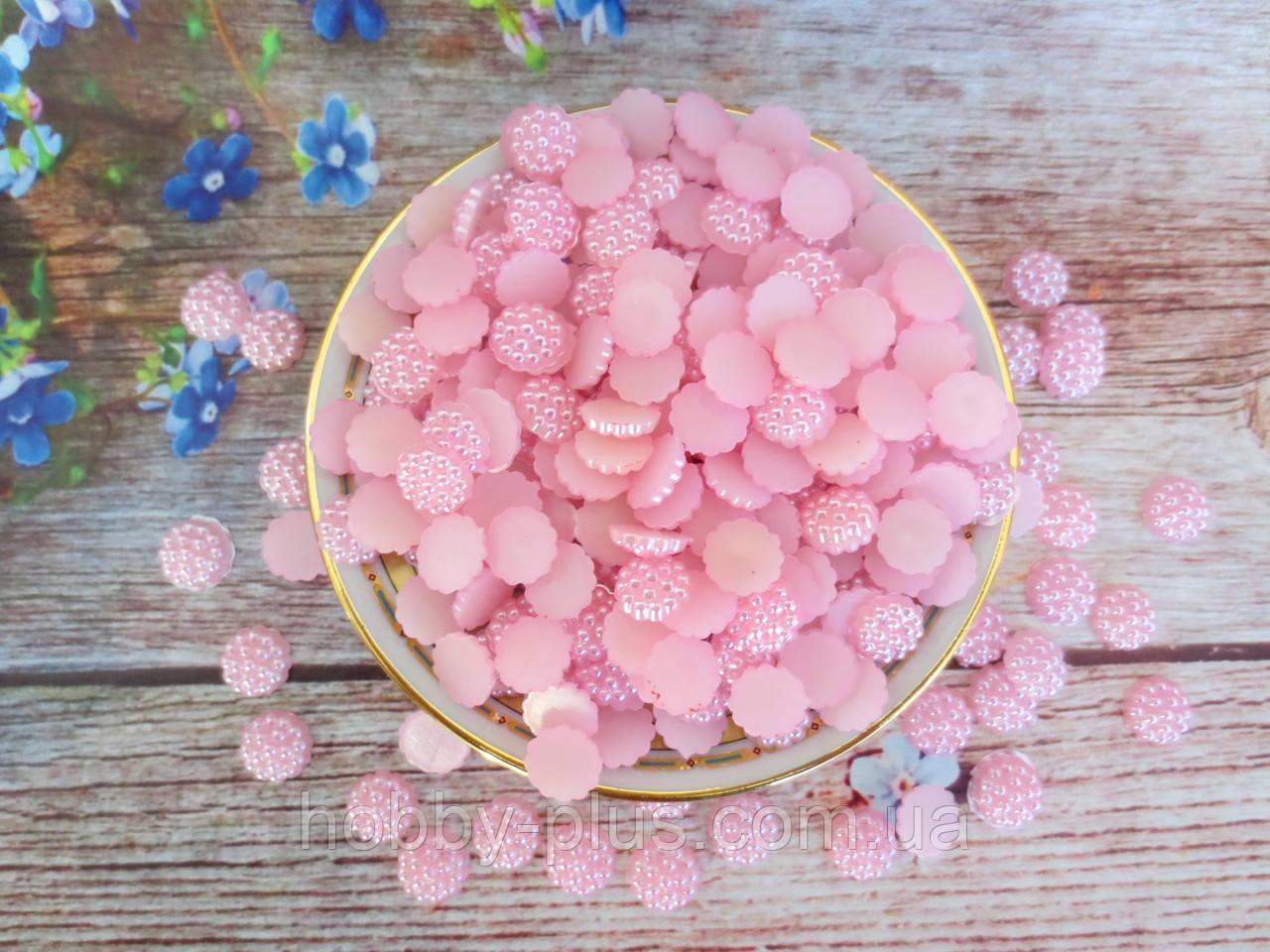 Клеевой декор в пупырышку, 10 мм, цвет розовый, 20 шт.