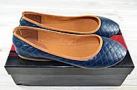 Балетки женские Beletta 1158-15 синие кожа, фото 1