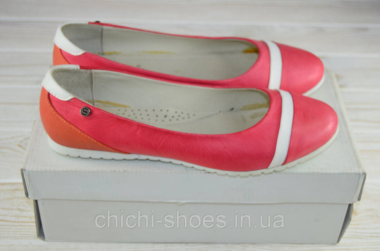 Балетки женские Селеста 4-1250 розовые кожа