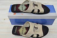 Мужские сандали Comfortime 11171 бежевые кожа, фото 1