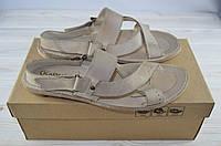 Мужские сандали Kadar 1550097 бежевые кожа, фото 1