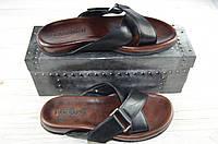 Мужские сандали Basconi 201009-03В чёрные кожа, фото 1