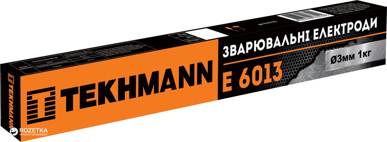 """Електроди """"Tekhmann"""" E 6013 діаметр 3 мм маса 1 кг"""