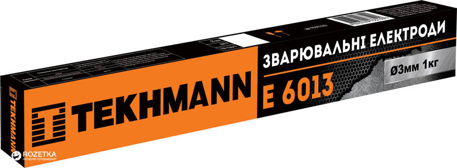 """Електроди """"Tekhmann"""" E 6013 діаметр 3 мм маса 1 кг, фото 2"""