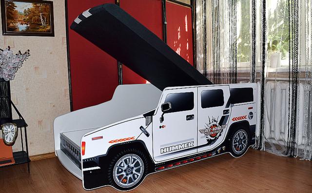 Кровать машина Хаммер со встроенным матрасом купить недорого киев
