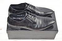Туфли мужские чёрные кожа на шнурках 2158-20-053