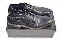 Туфли мужские Miratti 2158-20-053 чёрные кожа на шнурках, фото 1
