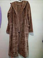 Мужские халаты махровые банные с капюшоном М-XXL