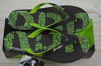 Вьетнамки мужские Rider 23779 чёрно-зелёные резина, фото 1
