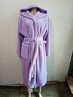 Женские махровые банные халаты с капюшоном M-XXL, фото 1