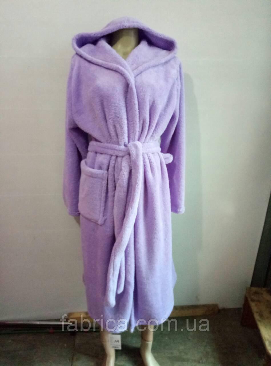 Женские махровые банные халаты с капюшоном M-XXL