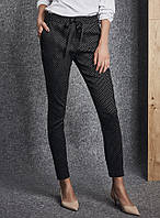 3ff90b858dca Женские брюки в мелкий горошек черного цвета. Модель 260091 Enny