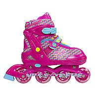 Роликовые коньки Nils Extreme NJ4613A Size 34-37 Pink