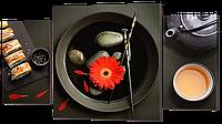 """Модульная картина """"Восточный обед с цветком"""""""