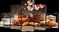 """Модульная картина """"Завтрак с цветами"""""""