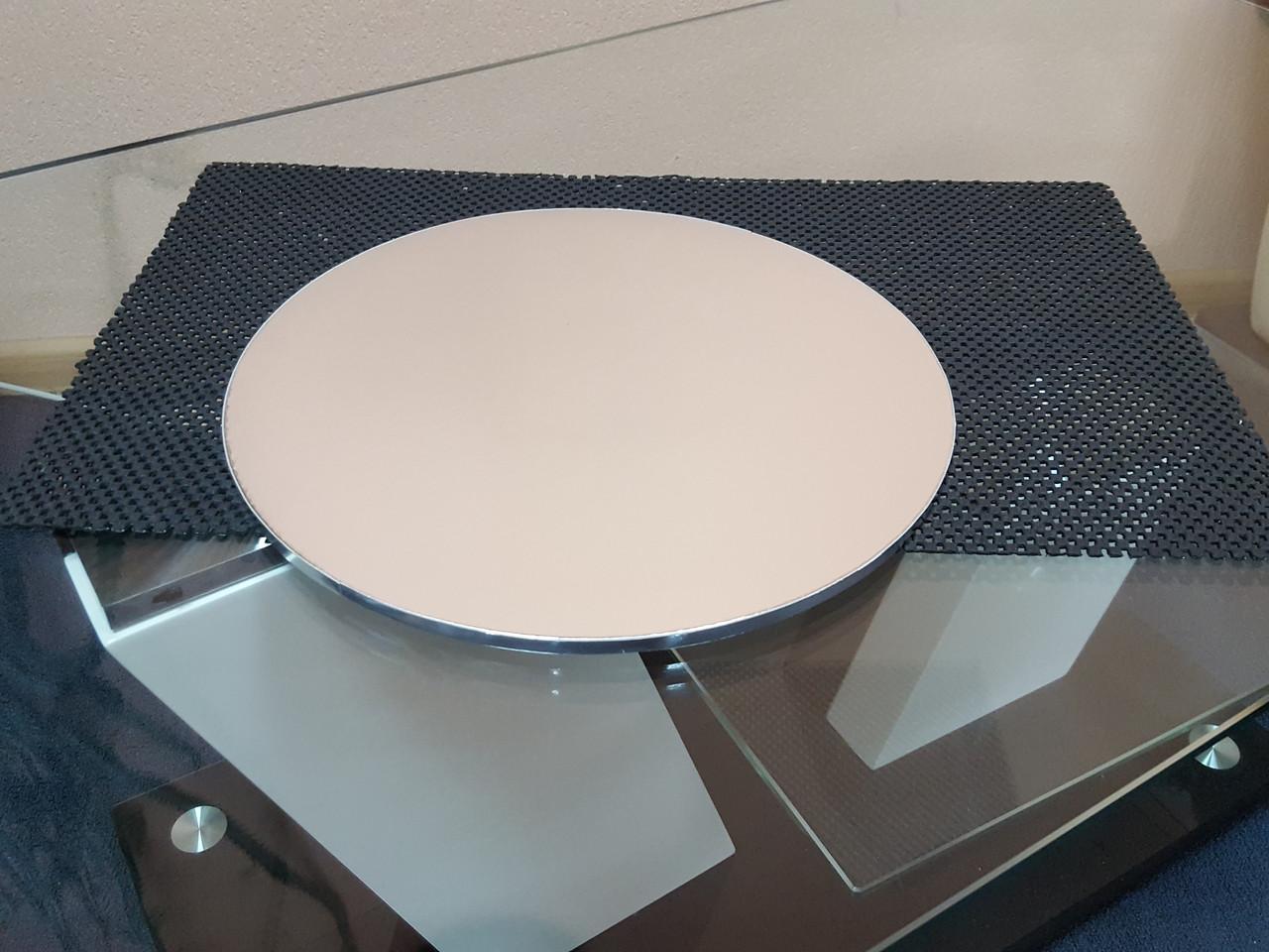 Подложка под торты уплотненная серебро (8мм) Д-40
