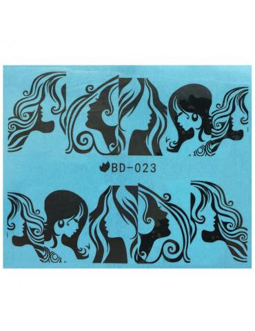 Слайдер-дизайн для ногтей BD-023 6.2*5.2 см