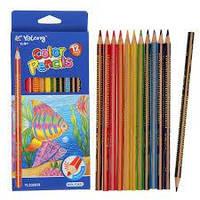 Олівці кольорові Yalong 18 шт. синя упаковка  ps.1.656 YL530058-18