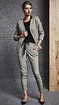 Женский жакет цвета серый меланж. Модель 260066 Enny, фото 2