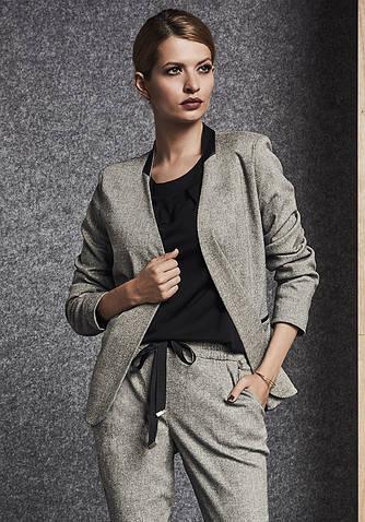 Женский жакет цвета серый меланж. Модель 260066 Enny