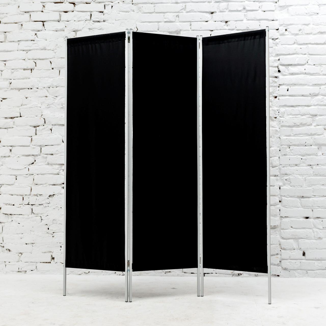 Ширма косметологическая черная 150х180см