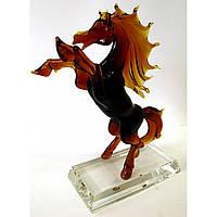 Статуэтка Конь хрустальный цветной