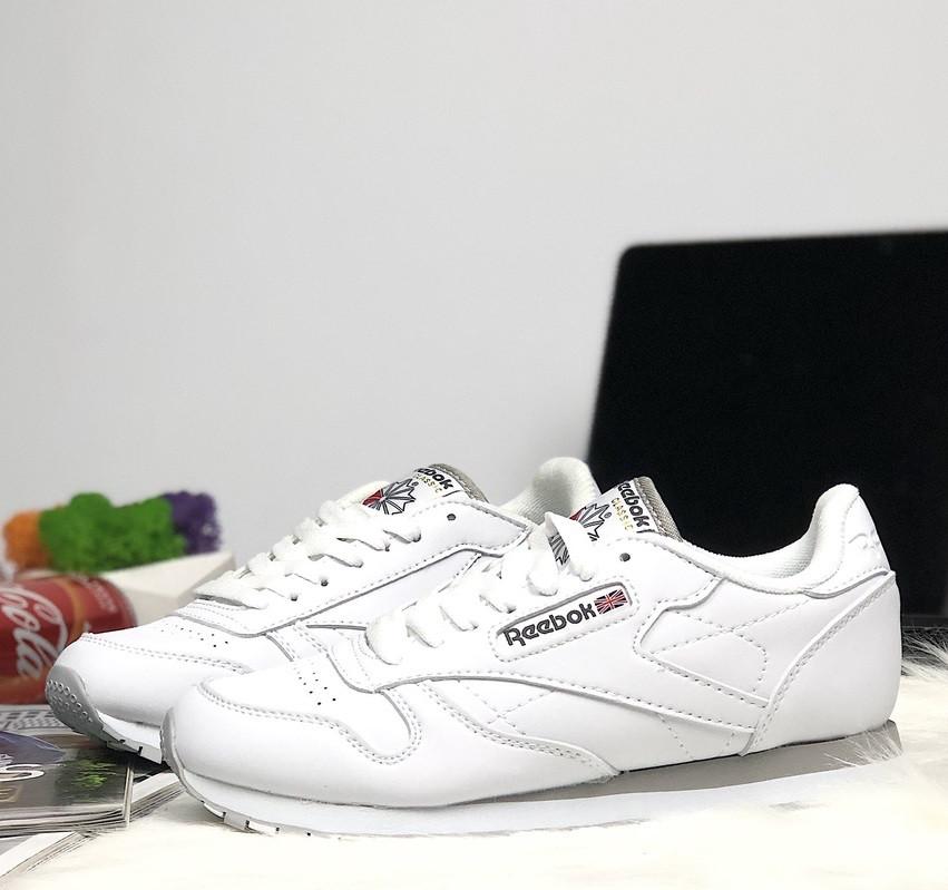 66cd7974 Женские кроссовки Reebok Classic Leather White. Живое фото (Реплика ААА+) -  Интернет