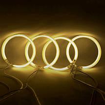 Ангельские глазки (4*120 мм) CCFL для ВАЗ 2106 жёлтые, фото 2